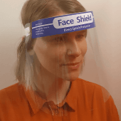 Face Shields to protect from respiratory droplets