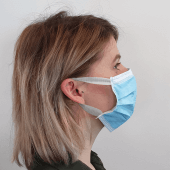 Single use protective masks for retail and business