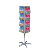 Rotating leaflet display stand