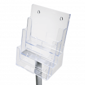 Free Standing Leaflet Dispenser with Tiers close