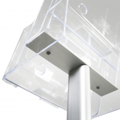 Freestanding Leaflet Dispenser with Tiers fixings