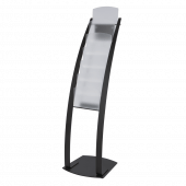 Free Standing A4 Magazine Stand black