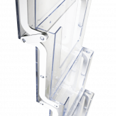 Collapsible Brochure Stand with clear magazine dispenser pockets
