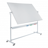 Magnetic whiteboard with double sided revolving display