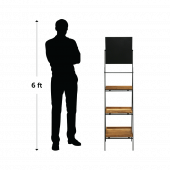 Folding Ladder Stand With Chalkboard Header