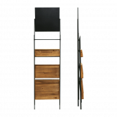 Folding Ladder Display Shelving With Chalkboard Header