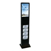 Digital Signage with Brochure Holder, optional branding and wheels