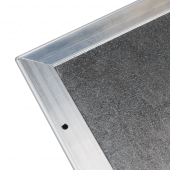 A rear aluminium frame adds greater rigidity to this snap frame