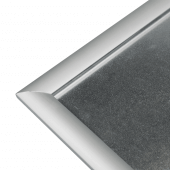 The heavy duty snap frame includes a galvanised steel back panel