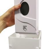 Refillable automatic sanitiser dispensing unit