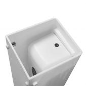 Refillable automatic hand sanitiser dispenser in white acrylic
