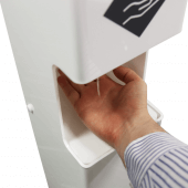 The automatic sanitizer dispenser with a 20cm sensor range