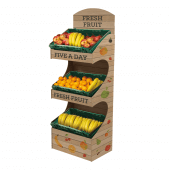 Premium Freestanding Display Unit fully branded