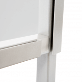 Freestanding sneeze screen with sturdy silver frame