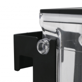 Fix the dry food dispenser to the wall using the bracket supplied