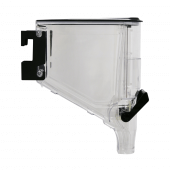 Gravity dispenser food bin with new improved design