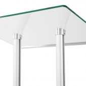 Glass podium with metal lectern stand