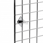 Gridwall brackets for wall mounting, available in black or silver