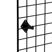 The wall mounting bracket holds your grid mesh panels securely in place