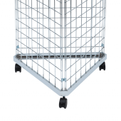 Three Sided Gridwall Stand with Wheeled Base