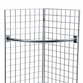 Our Gridwall Curved Clothes Rail is a space saving choice of  garment rail