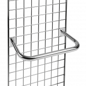 Our Gridwall D Rail slots onto gridwall panels for an instant garment rail