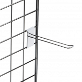 Double prong merchandising hooks for gridwall