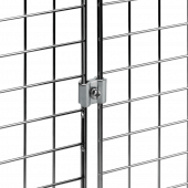 Joining clip to suit gridwall mesh panels