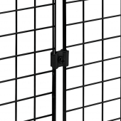 Joining clip for grid mesh panels
