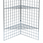 Gridwall Corner Shelf