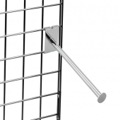 Gridwall Straight Arm Rail with Disc End