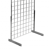 Gridwall legs x 2 - single sided L legs for use with gridwall panels