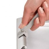 Snap Frame Lever Tool for opening tamper-resistant frames