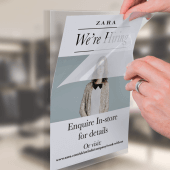 Window Poster Sleeve Self Cling