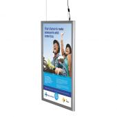 Double Sided Hanging LED Backlit Snap Frame