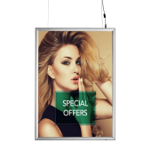Double sided LED snap frame, great for window displays