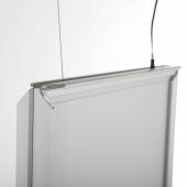 Backlit hanging snap frame
