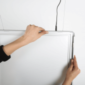 This double sided LED snap frame makes poster changing easy