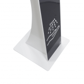 Freestanding hand sanitizer stations with robust steel frame