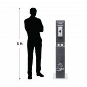 Freestanding touchless hand sanitiser dispenser
