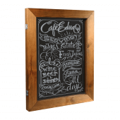 This wood chalkboard frame is great for restaurant menus