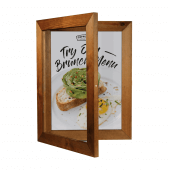 Hinged Wood Poster Case with Chalkboard