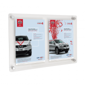 Twin A4 Poster Holders Wall Mounted