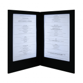 Illuminated restaurant menus with two back-lit A4 panels