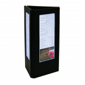 Three Sided Menu Holder With LED Backlight