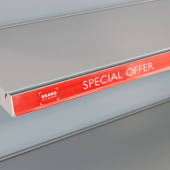 Bespoke Printed Shelf Edge Infill Strips with a single sided print