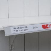 LED shelf edge strips for creative retail displays (unlit)