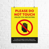 'Please do not touch' social distancing poster