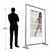 Freestanding multiple poster display stands