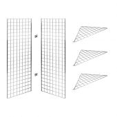 5ft Gridwall corner display stand